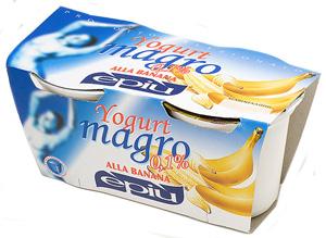 banana zero fat yogurt