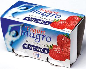 Low fat yogurt strawberry