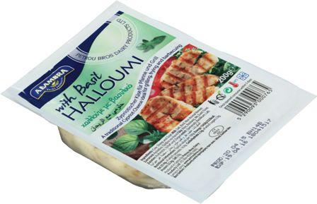 Halloumi cheese basil